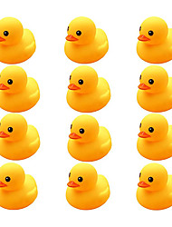 cheap -Preschool Bath Toys Rubber Floating Squeaky Baby Wash Shower Toy for Toddlers Kids Party Decoration 12 Pcs (Yellow Duck)