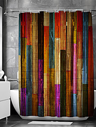 cheap -Colorful Bathroom Shower Curtains with Hooks Polyester Contemporary Machine Made Bath Curtains Waterproof