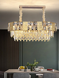 cheap -LED Pendant Light Crystal Chandelier Luxury Gold Island Light 82 cm Lantern Desgin Metal Electroplated 220-240V 110-120V
