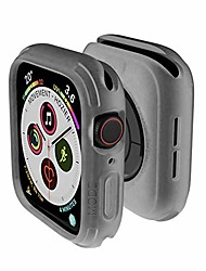 cheap -Smart watch Case  compatible with apple watch series 6 se 5 4 bumper case cover 44mm iwatch quattro series cases fall protection durable military grade tpu flexible shock proof resist transparent