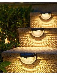 cheap -Solar Light Outdoor Fence Light 2pcs 6LEDs Waterproof Step Light Semi-circular Solar Wall Light Exterior Stair Balcony Decorative Lighting