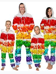 cheap -Family Look Rainbow Daily Graphic Print Long Sleeve Pajamas