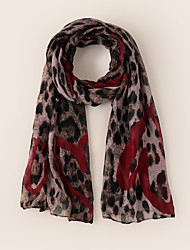 cheap -Women's Active Infinity Scarf - Leopard Breathable