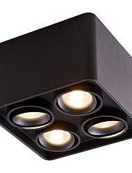 cheap -LED Smart Ceiling Light Tuya Amazon Alexa Wifi Control Smart Home 19.5 cm Dimmable Black White Flush Mount Lights Aluminum Minimalist Painted Finishes 220-240V 110-120V