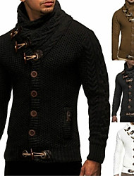 cheap -Men's Unisex Pattern Yarn Dyed Stripes Daily Wear Sweaters Hoodies Sweatshirts  Camel Dark Gray White