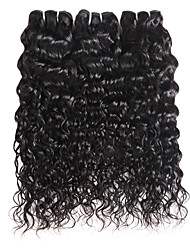 cheap -Ishow 3 Bundles Human Hair Weaves Peru Virgin Wig 3 Pieces Of Combination Outfit 100% Human 8A Smooth Hair Water Wave Hair Curtain Popular Style Hair Extensions 8-28 Inch