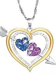 cheap -personalized mothers name necklace sterling silver with 2 simulated birthstones hanging pendant relationship heart name necklace for 2 meaningful necklace jewelry gifts for women