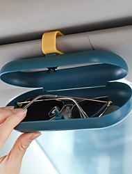 cheap -Car Glasses Case With Aromatherapy Lens Auto Supplies Glasses Clip Sunshade Storage Sunglasses Rack