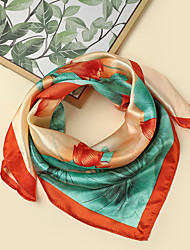 cheap -Women's Square Scarf Party Red Scarf Floral