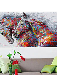 cheap -Wall Art Canvas Poster Painting Artwork Picture Horse Oil Painting Style Home Decoration Décor Rolled Canvas No Frame Unframed Unstretched