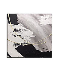 cheap -Oil Painting Handmade Hand Painted Wall Art Square Simple Landscape Abstract Pictures Home Decoration Decor Stretched Frame Ready to Hang