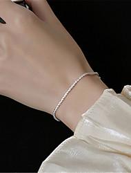 cheap -Women's Men's Bracelet Classic Mini Fashion Silver-Plated Bracelet Jewelry Silver For Daily