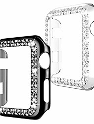 cheap -spobit 2 pack apple watch case 38 mm compatible with series 3/2/1 - bling diamond protective accessories for iwatch