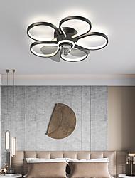 cheap -LED Ceiling Fan Light Floral Design Black Gold 50cm 60cm Island Design Ceiling Fan Aluminum Artistic Style Vintage Style Modern Style Painted Finishes LED Nordic Style 220-240V 110-120V