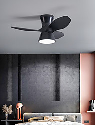 cheap -LED Ceiling Fan Light Black White Brown 80cm Dimmable Geometric Shapes Ceiling Fan ABS Artistic Style Vintage Style Modern Style Painted Finishes 220-240V 110-120V