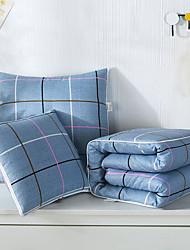 cheap -Pillow Quilt Multifunction Simple Lattice Car Purpose Cushion Office Nap Pillow Folding Blanket Sofa Pillow Air Conditioning Quilt