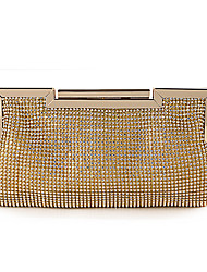 cheap -Women's Bags Polyester Alloy Evening Bag Glitter Crystals Fashion Party Wedding Evening Bag Wedding Bags 2021 Black Gold Silver