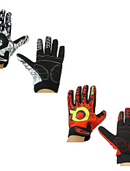 cheap -Bike Gloves / Cycling Gloves Touch Gloves Anti-Slip Warm Ergonomic Design Durable Sports Gloves Lycra Red White for Outdoor Exercise Cycling / Bike