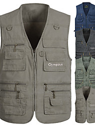 cheap -Men's Fishing Vest with Multi Pockets Work Vest Outdoor Utility Breathable Vest for Fishing Camping / Hiking / Caving Traveling Photo Journalist