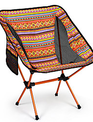 cheap -Camping Chair with Side Pocket Portable Ultra Light (UL) Multifunctional Foldable Aluminum Alloy for 1 person Fishing Beach Camping Autumn / Fall Winter Black Yellow / Breathable / Comfortable
