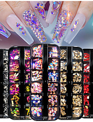 cheap -12 Grid Mixed Style Nails Rhinestones And Decorations 2021 Fashion Glass Accessories For DIY Nail Styling