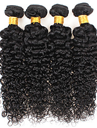cheap -Ishow 3 Bundles Human Hair Weaves Brazil Hair 100% Human Hair 3 Pieces Curly Human Hair Combination Outfit 8-28 Inch Hair Extensions