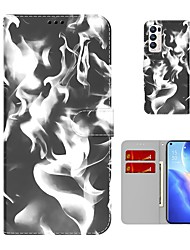 cheap -Rendering Color Wallet Leather Phone Case For OPPO Find X3 Neo Find X3 Lite Oppo A72 / A52 / A92 A53 A33 Card Holder Kickstand Shockproof Protection Case For Oppo Realme X7 7i 6i 5i C17
