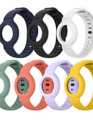 cheap -Wearable Wristband Silicone Case For Airtag Anti-Lost Lightweight Bands For Children Kids Silicone Protective Cover For Apple Airtags Tracker