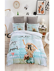 cheap -3-Piece Duvet Cover Set Hotel Bedding Sets Comforter Cover with Soft Lightweight Microfiber Beach Include 1 Duvet Cover 2 Pillowcases for Double/Queen/King(1 Pillowcase for Twin/Single)
