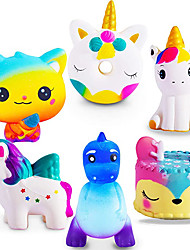 cheap -Jumbo Squishies Slow Rising 4 Pack Squishies Animal Newest Unicorn Squishy Toys Party Favors Goodies Bags Class Prize Cream Scented & Kawaii Squishys Stress Relief Toys for Adults Kids