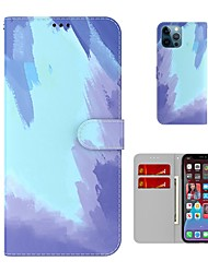 cheap -Wallet Leather Phone Case For iPhone 12 Pro Max 11 SE 2020 X XR XS Max 8 7 6 Rendering Color Flip Folio Card Holder Kickstand Shockproof Protection Case