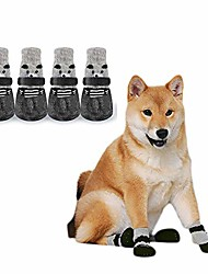 cheap -sakasa anti slip dog socks dog shoes, with adjustable strap and rubber sole, for small dogs cats puppies, pet paw protection 2 pairs (size m)