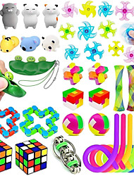 cheap -35 Pack Anti-Anxiety Sensory Toys Set, Stress Relief Fidget Toys for Adults and ADHD Autism Kids, Birthday Party Favors, Treasure Chest, Prize Box Toys, Carnival Prizes, Pinata Goodie Bag Fillers