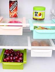 cheap -Fridge Shelf Freezer Holder Pull-out Drawer Kitchen Organiser Space Saver Adjustable Kitchen Refrigerator Storage Rack Cocina Meal Prep