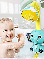 cheap -Baby Bath Toys Electric Shower - Bath Shower Head for Kids Sucker Electric Shower Rain Head Kids Bathing Time Toddlers Game Elephant Animal Toy 4 X 1.5V AAA Required (Not Included)