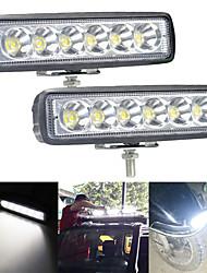 cheap -1PC Driving Offroad Fog Lights Led Bar Work Car Light 18W 12V Universal 4WD Beams Work Spotlight Flood Lamp
