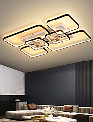 cheap -LED Ceiling Fan Light Square Design Black Gold 90cm Dimmable Ceiling Fan Aluminum Artistic Style Vintage Style Modern Style Painted Finishes LED Nordic Style Living Room Dinning Room 220-240V 110-120V