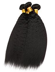 cheap -Ishow 4 Bundles Human Hair Waves Brazilian Virgin Wig Colorable Hair Curtain 100% Natural Hair 8A Yaki Wave 4 Combinations
