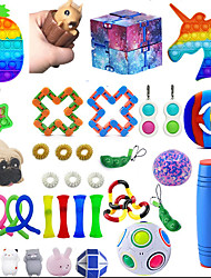 cheap -36PCS Fidget Toys Stress Relief and Anti-Anxiety Autistic ADHD Toy Set for Kids Teens Adults Fidget Packs Include Sensory Toys Noise Maker Toys and Storage Bag Best Gift for Birthday and Festival