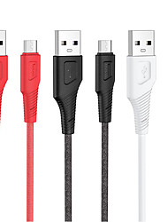cheap -HOCO Micro USB Cable Normal 2.4 A 1.0m(3Ft) Silicone For Xiaomi Huawei Phone Accessory