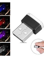 cheap -1pc Mini USB LED Car Light Auto Interior Atmosphere Light Decorative Lamp Emergency Lighting  Auto Colorful Light Car Accessories