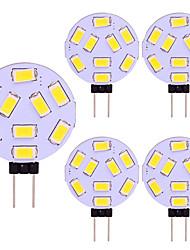 cheap -LED Round Range Lamp Bulb 5 pcs G4 15 LEDs 5730 SMD 12V - 24V DC AC White Warm Cold White