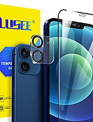cheap -lusee [2 pieces tempered glass protective film for iphone 12 mini 5.4 + [2 pieces] tempered glass camera for iphone 12 mini 5.4 screen protector [9h hardness] [anti scratch] [ultra thin]