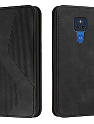 cheap -Phone Case For Motorola Full Body Case MOTO E6 MOTO E6 plus MOTO E6 play Moto G Power Moto G Stylus Moto Edge+ Moto E6S (2020) Card Holder Shockproof Dustproof Solid Colored Geometric Pattern PU