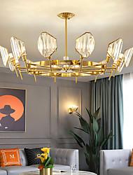 cheap -LED Pendant Light Crystal Chandelier Gold Modern Luxury Unique Design 5 6 8 10 12 Heads Metal Electroplated LED Nordic Style 220-240V 110-120V