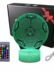 cheap -3D Night Light Football Euro Cup Soccer 3D Illusion Lamp Ball Bedroom Lights for Boys Kids Sports Fans 16Colors Change with Smart Control Cool Gifts for Birthday Christmas Holidays Room Decor