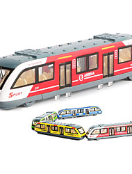 cheap -Pull Back Alloy Connected Subway Model,1:64 Magnetic Metro Track Train Alloy Model,Open Door Children's Educational Toy Car Sound and Light Pull Back Metal Fall-Resistant Boy Toy Car Gift - 4 Colors