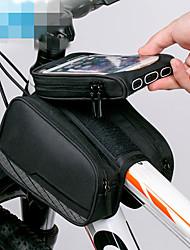 cheap -ROCKBROS Cell Phone Bag Bike Frame Bag Top Tube 6 inch Reflective Logo Rainproof Cycling for iPhone X iPhone XR iPhone XS Black Mountain Bike MTB Bike / Cycling / iPhone XS Max