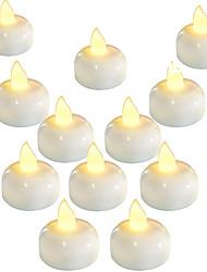 cheap -LED Candle Light 12pcs Water Sensor LED Flameless Floating Electronic Candle for Bath SPA Pray Waterproof Tealight LED Aquarium Light Fish Tank Light
