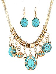 cheap -turquoise multilayer necklace sweater chain ladies accessories jewelry fashion alloy